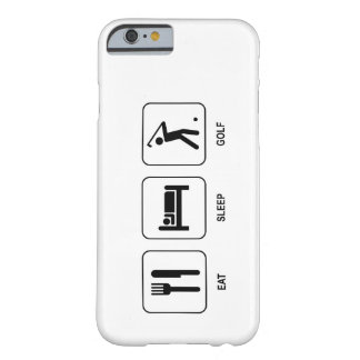 Eat Sleep Golf Barely There iPhone 6 Case