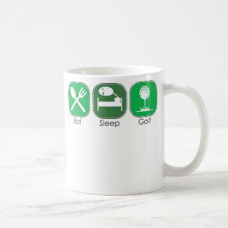 Eat Sleep Golf Classic White Coffee Mug
