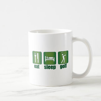 Eat, Sleep, Golf Coffee Mugs
