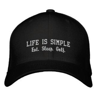 Eat. Sleep. Golf. Embroidered Baseball Cap