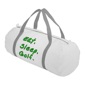 Eat. Sleep. Golf. Gym Bag