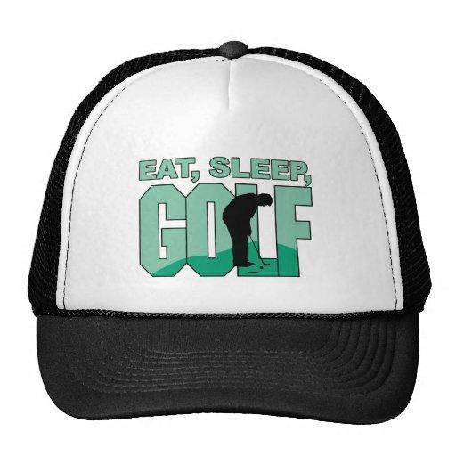 Eat Sleep Golf Mesh Hat