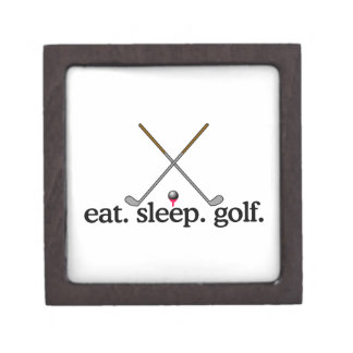 Eat Sleep Golf Jewelry Box