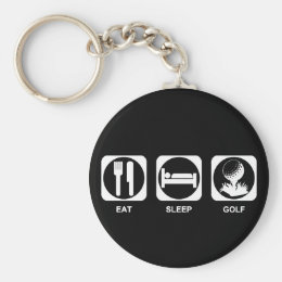 Eat Sleep Golf Keychain