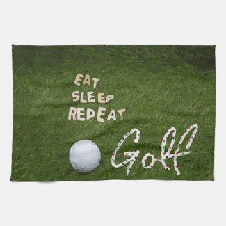 Eat Sleep Golf   Kitchen towel