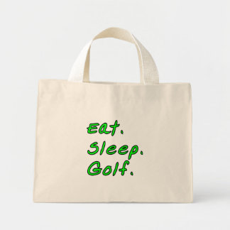 Eat. Sleep. Golf. Mini Tote Bag
