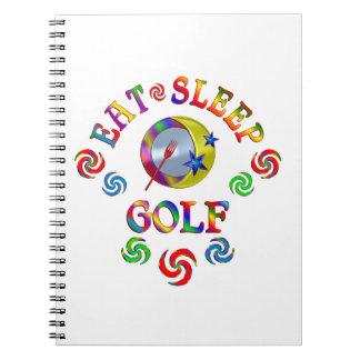 Eat Sleep Golf Notebook