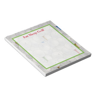 Eat Sleep Golf Notepad