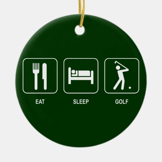 Eat Sleep Golf Ornament
