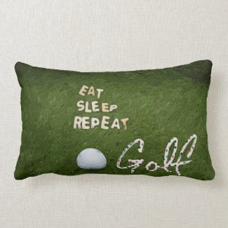 Eat Sleep Golf Pillow