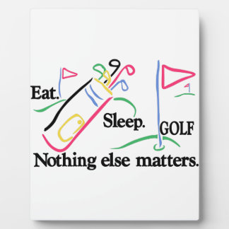 Eat Sleep Golf Plaque