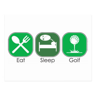 Eat Sleep Golf Postcard
