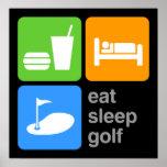 Eat Sleep Golf Poster
