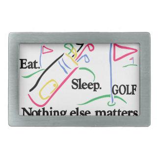 Eat Sleep Golf Rectangular Belt Buckle