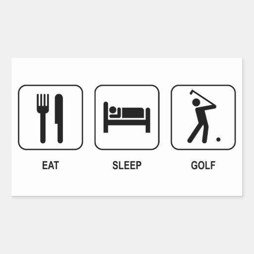 Eat Sleep Golf Rectangular Sticker