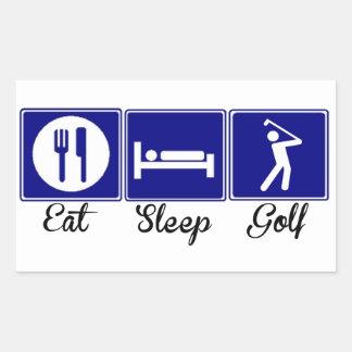 Eat, Sleep, Golf Rectangular Sticker