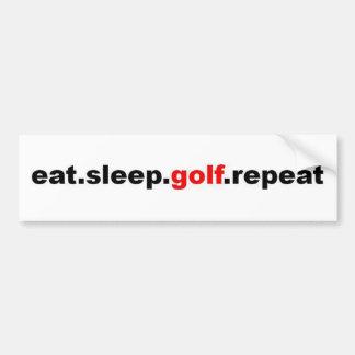 eat sleep golf repeat car bumper sticker