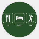 Eat Sleep Golf Sticker