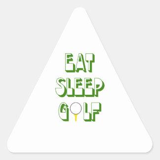 EAT SLEEP GOLF TRIANGLE STICKER
