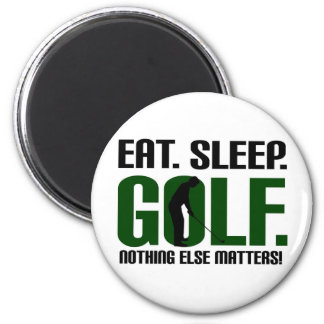 Eat sleep golf t shirts and tee 2 inch round magnet