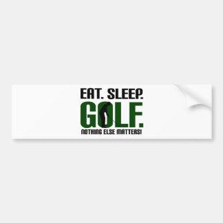 Eat sleep golf t shirts and tee bumper sticker