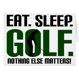Eat sleep golf t shirts and tee card