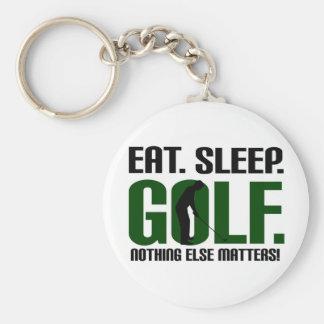 Eat sleep golf t shirts and tee keychain
