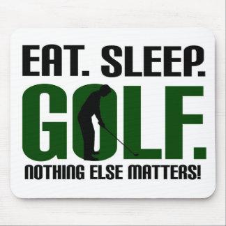 Eat sleep golf t shirts and tee mouse pad