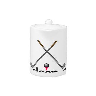 Eat Sleep Golf Teapot