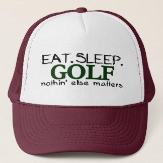 Eat Sleep Golf Trucker Hat