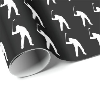 Eat Sleep Golf Wrapping Paper