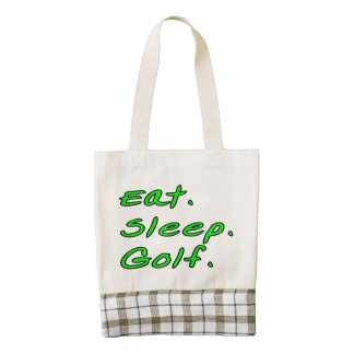 Eat. Sleep. Golf. Zazzle HEART Tote Bag