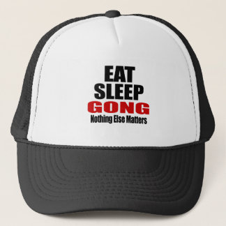 EAT SLEEP GONG TRUCKER HAT