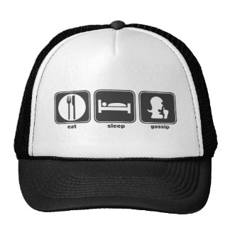 Eat Sleep Gossip Mesh Hats