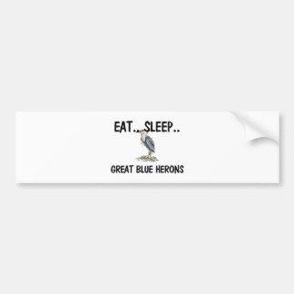 Eat Sleep GREAT BLUE HERONS Bumper Sticker