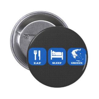 Eat Sleep Greece Pinback Button