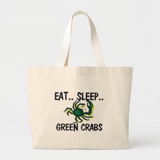 Eat Sleep GREEN CRABS Canvas Bag