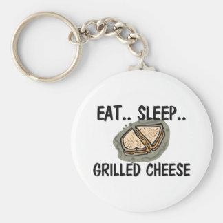 Eat Sleep GRILLED CHEESE Basic Round Button Keychain