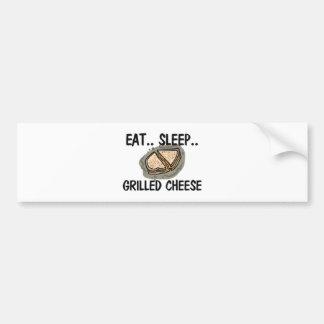 Eat Sleep GRILLED CHEESE Bumper Sticker