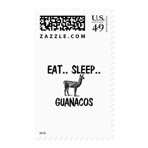 Eat Sleep GUANACOS Postage Stamp