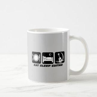 Eat sleep guitar coffee mug