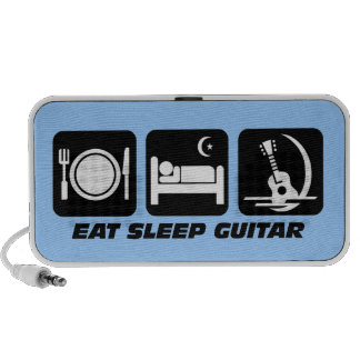 eat sleep guitar iPod speakers