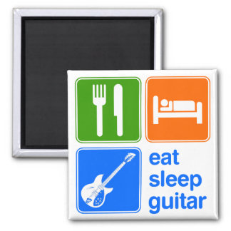 Eat Sleep Guitar Magnet