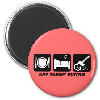 eat sleep guitar 2 inch round magnet