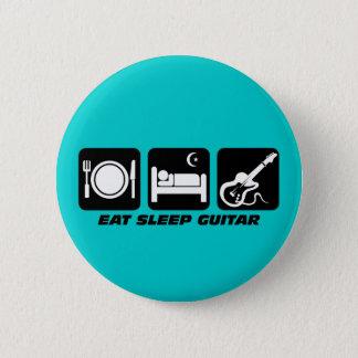 eat sleep guitar pinback button