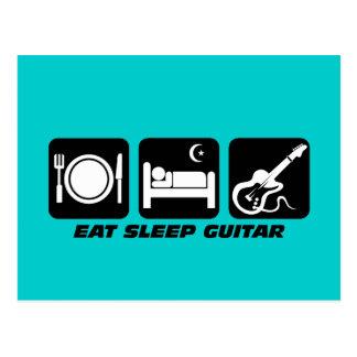 eat sleep guitar post cards