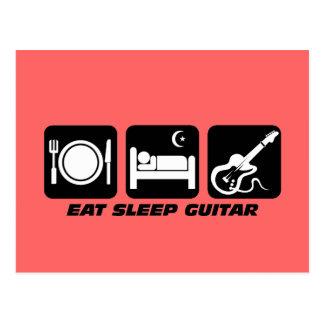 eat sleep guitar postcard