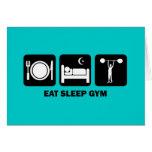 eat sleep gym card