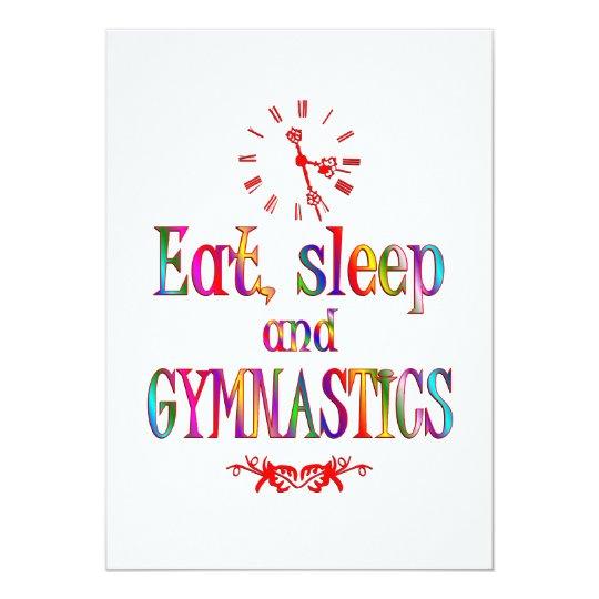 Eat, Sleep Gymnastics Card