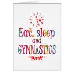 Eat, Sleep Gymnastics Greeting Card